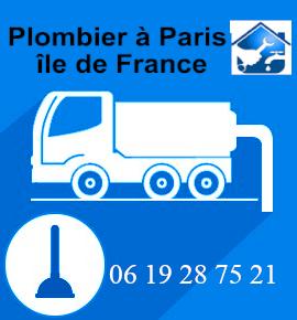 Plombier, camion dégorgement